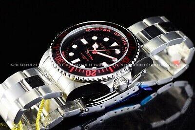 New Invicta Men's 43mm Pro Diver Master of Ocean Black & Red 200M Diver SS Watch