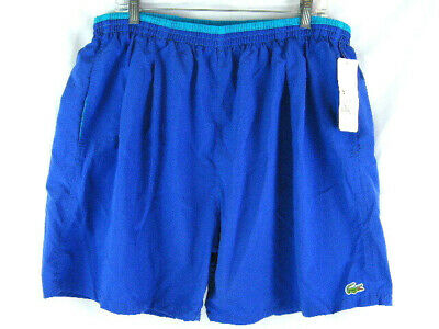 NOS Vintage 90's Lacoste ALLIGATOR Mesh Lined Nylon Swim Trunks Shorts Men's XL