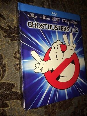 Ghostbusters 1 & 2 (Blu-ray Digibook 2-Disc Set) Mastered in 4K  like New