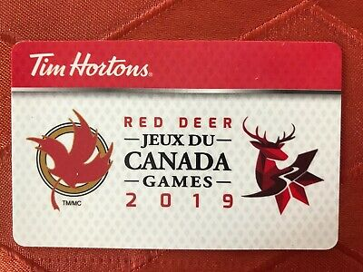 2019 Canada Winter Games - Red Deer, AB Tim Hortons Gift Card FD64241 VERY RARE