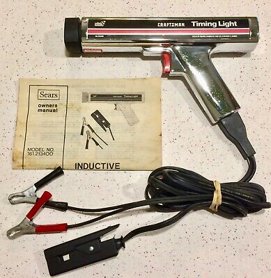Vintage SEARS Craftsman Timing Light 161.213400 w/ Cables & Manual, Very Nice!