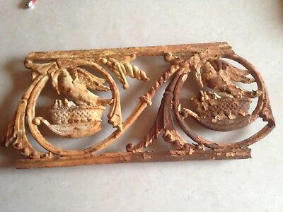 Antique Original Victorian Cast Iron Frieze
