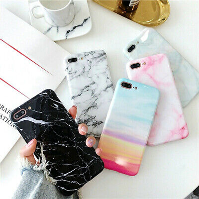 New Shockproof Pastel Marble Pattern Soft Cover Case For iPhone6 8 7Plus X XSMax