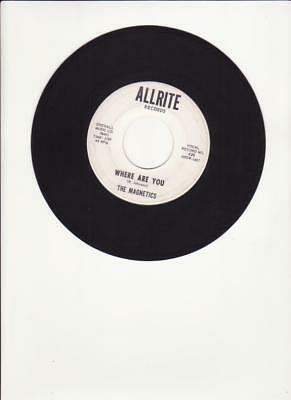 The Magnetics- Where Are You/The Train- Rare 60's Doo-Wop/Group 45-Allrite Label