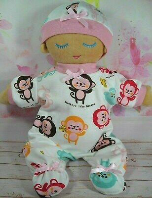 Dolls Clothes For Lulla Doll~Cream~ Colourful Monkey Jumpsuit & Hat