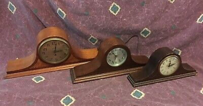 (3) Electric Mantle Clocks Parts/Repair Hammond GE Manning Bowman