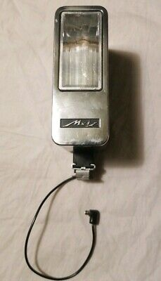 Vintage Metz Mecablitz 163 Camera Flash w/ Cord Untested As Is West Germany