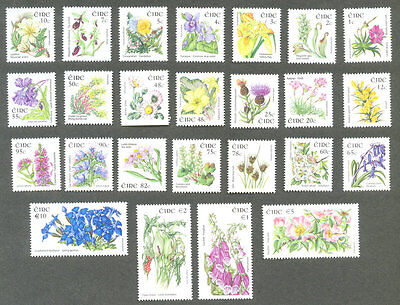 Ireland-Wild Flowers set of 25(1665-1689) 2004-9 mnh