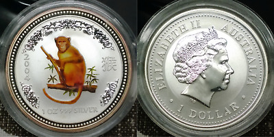 2004 Australia Lunar Year of the Monkey - 1 oz 999 pure silver coin