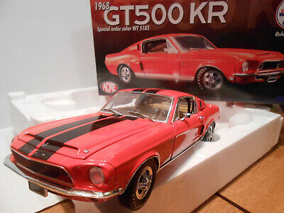 ACME GMP 1:18 1968 Shelby Gt500Kr Mustang Coral Black Stripes Low 16 Toms  Garage