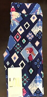 64e138010bb46c BNWT LuLaRoe Disney Frozen Kids L/XL Leggings Princess Elsa Anna Unicorn HTF