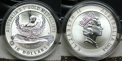 1994 Australia's Olympic Heritage 20.77 gms 999 silver coin - Sarah Durack