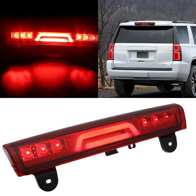 Red 3D Light Bar Third 3rd LED Tail Brake Lamps Fits Chevy Suburban, Tahoe FAST