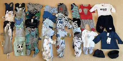 BABY BOYS SIZE 0000 MIXED BUNDLE BULK LOT CLOTHES - Over 30 Items Bonds, Ollies