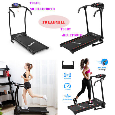 Incline Electric Treadmill Motorised Folding Running Machine Workout +/Bluetooth