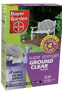 Bayer Garden Weedkiller Super Strength Ground Clear Weed Control 6 X 8G Sachets