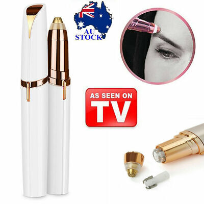 Electric Touch Brows Hair Remover Razor Face Eyebrow Trimmer LED Light AU