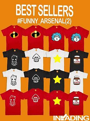 Boys Kids Adults Various Character Funny Short Sleeve Book Day T Tee Shirt Top