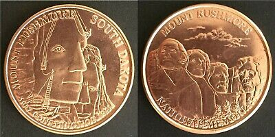 "Mount Rushmore National Memorial Construction Commemorative 1.5"" Copper Medal"