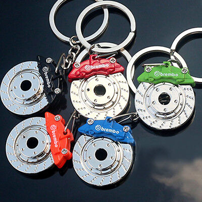 Car Brake Disc Model Keychain Key Ring 3D Metal Auto Part Turbo Keyring Gift SR