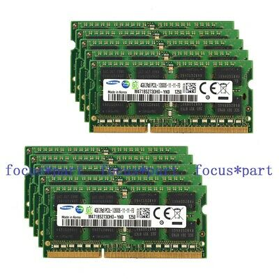 Samsung Lot 10PCS 4GB PC3L-12800 DDR3L 1600Mhz 204pin SODIMM Laptop Memory
