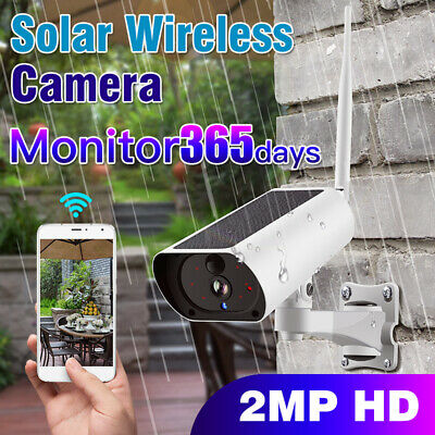 Outdoor Wireless WiFi Solar IP Camera 1080P HD Security Monitor Audio Waterproof