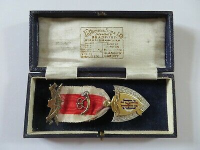 KNIGHTS OF THE GOLDEN HORN  MEDAL GUOKGH Masonic Silver Medallion 1924
