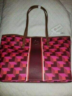C Wonder Large Nordic Building Block Tote Bag Nwt Pink