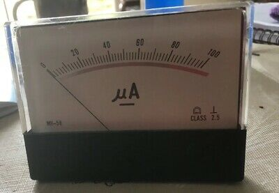 Analouge ammeter Moving Coil 110mmx80mm Scaled 0-100uA