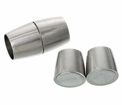 5 Sets Magnetic Clasps Barrel Silver Tone (Fits 5mm Cord)