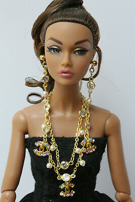 "OOAK jewelry set for Fashion Royalty, Poppy Parker, Barbie and similar 12"" dolls"