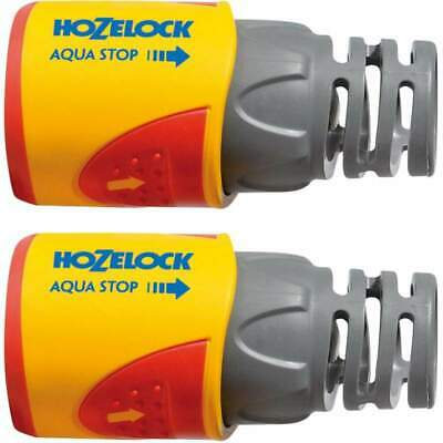 Hozelock 2055 AquaStop Water Stop Hose Pipe Connector Plus (12.5/15mm) 2-Pack