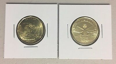 CANADA 2017 New 2 x Loonie Kit Circulations coins (BU directly from mint roll)