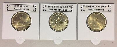 CANADA 2017 New 3 x Loonie Kit with CLASSIC No Circulation coin (BU from roll)