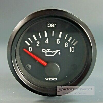 VDO OELDRUCK MANOMETER  INSTRUMENT 10 bar GAUGE 12V  52mm Cockpit international