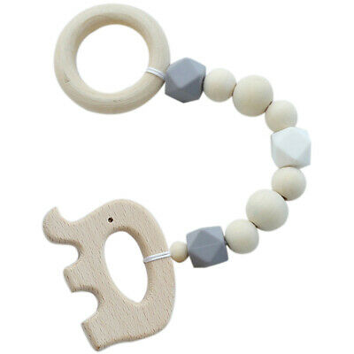 Ins Nordic Style Wooden Beads Ornament Kids Toys For Baby Elephant Shaped W Z1I2