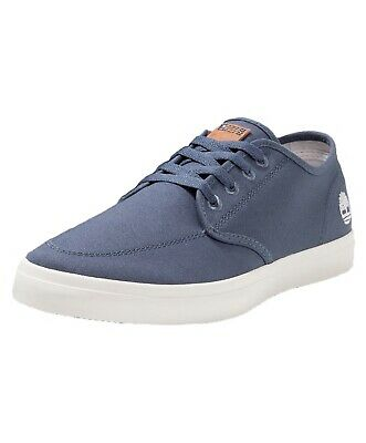 e4418569bcf986 Timberland Union Wharf Derby Mens Canvas Trainers Shoes Lace Up Plimsolls  Blue