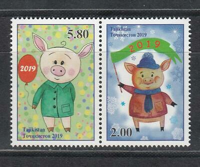 Tajikistan 2019 MNH** Mi.830-31 A Year of the Pig