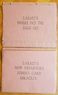 WHERE DO THE EGGS GO? & ZARRO'S NEW DEPARTURE JUMBO CARD MIRACLES by H. D. Smith