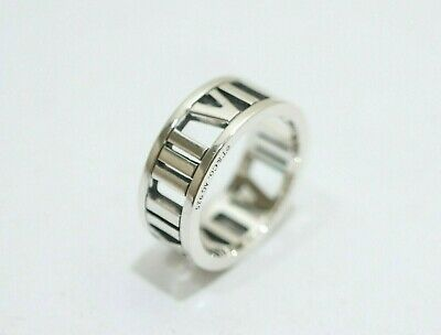 ed91a257f3497 VINTAGE 1995 TIFFANY Co Sterling Silver Roman Numeral Ring - $165.00 ...