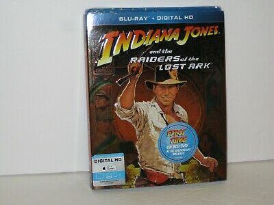 Raiders of the Lost Ark (Blu-ray Disc, 2013) w/sleeve ~NEW~