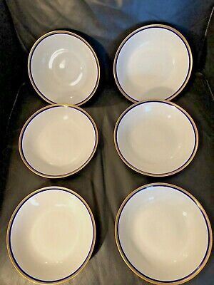 Fine Bohemian China Pompadour Czechoslovakia Set of 6 Bowls Must SEE !!!