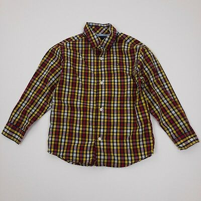 Toddler Boy/'s Tommy Hilfiger Long Sleeve Classic Woven Shirt in Yellow