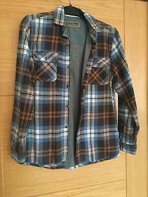 Next Boys Checked Lined Shirt Age 9