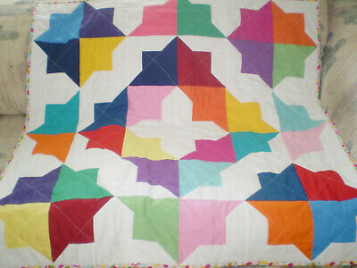 Handmade Baby quilt,baby girl or boy quilt,crib quilt,bright color-Flying Colors