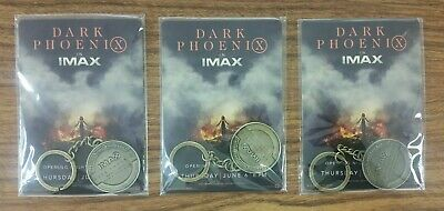 3 Keychains from X Men Dark Phoenix 2019 Theatrical IMAX Fan Event - Promo SWAG