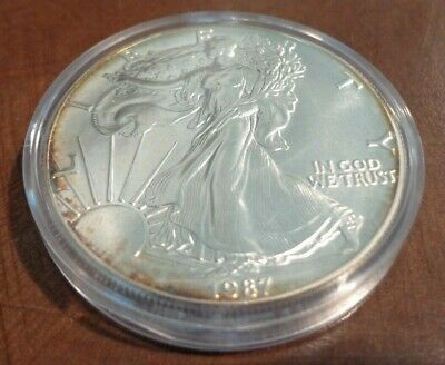 1 once OZ argent silver BU USA LIBERTY WALKING american eagle 1987 ETATS-UNIS P2