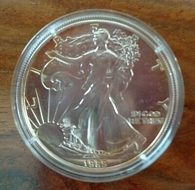 1 once OZ argent silver BU USA LIBERTY WALKING american eagle 1989 ETATS-UNIS P2