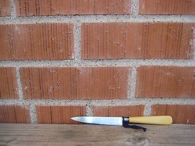 "Antique 4"" Curved Blade ** LANDERS FRARY CLARK ** Serrated Grapefruit Knife USA"