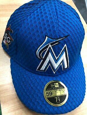 low priced ae622 058da New Era 59Fifty MLB Miami Marlins 2017 All Star Game Blue Hat Low Pro Size 7